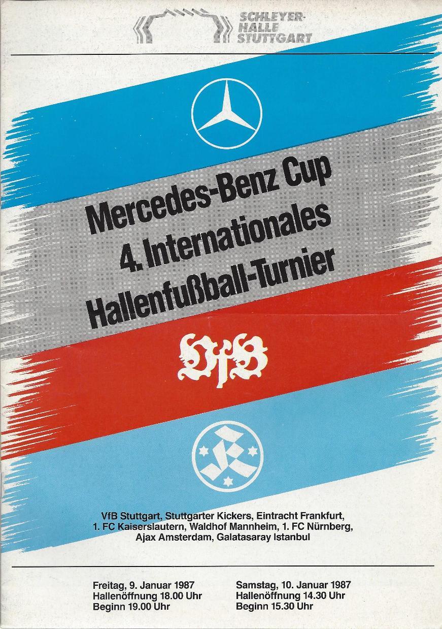 - Programmaboekje: Mercedes-Benz Cup 4.Internationales Hallenfussball-Turnier