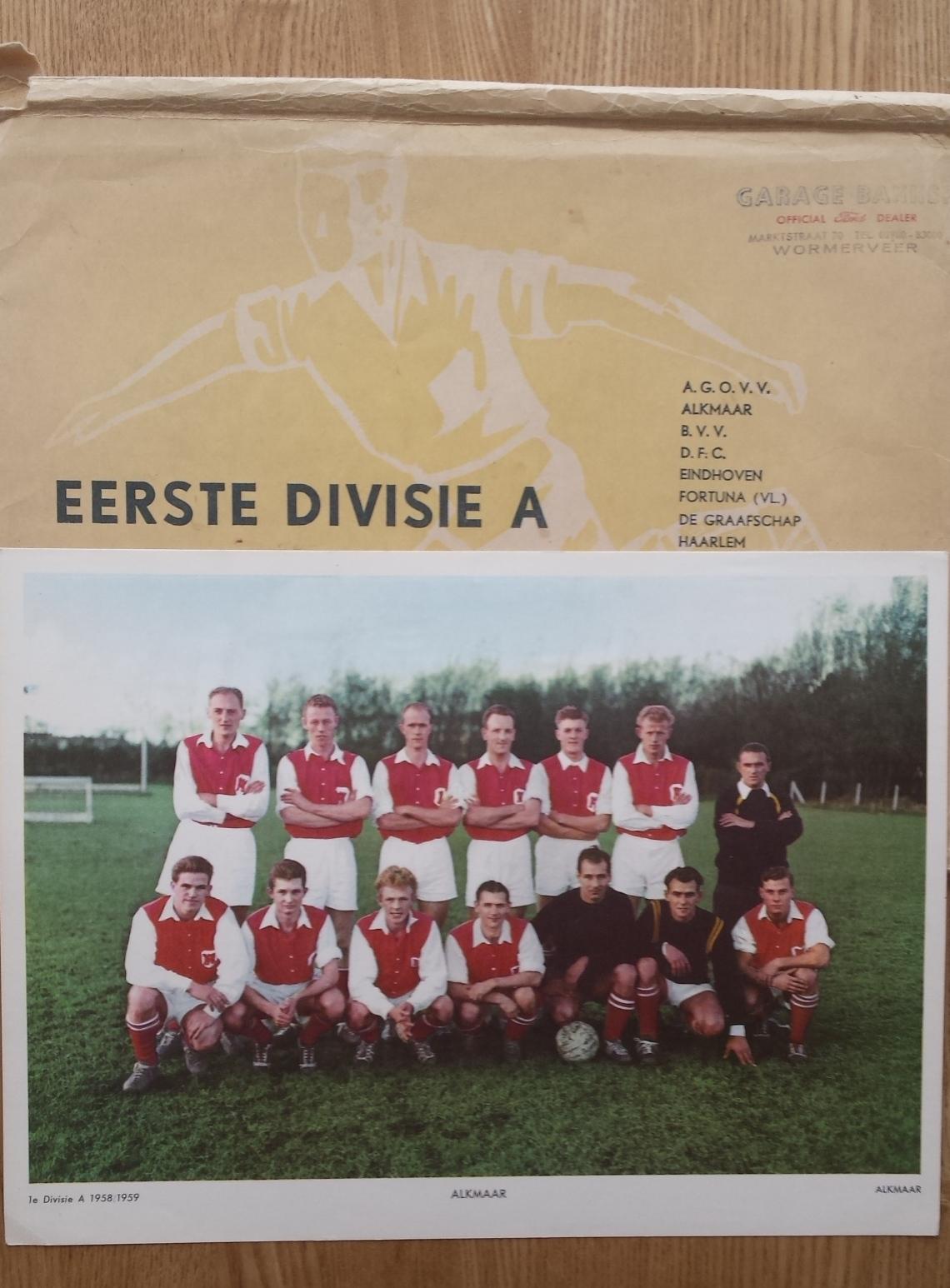 - Esso voetbalplaten 1958-1959 Eerste Divisie A