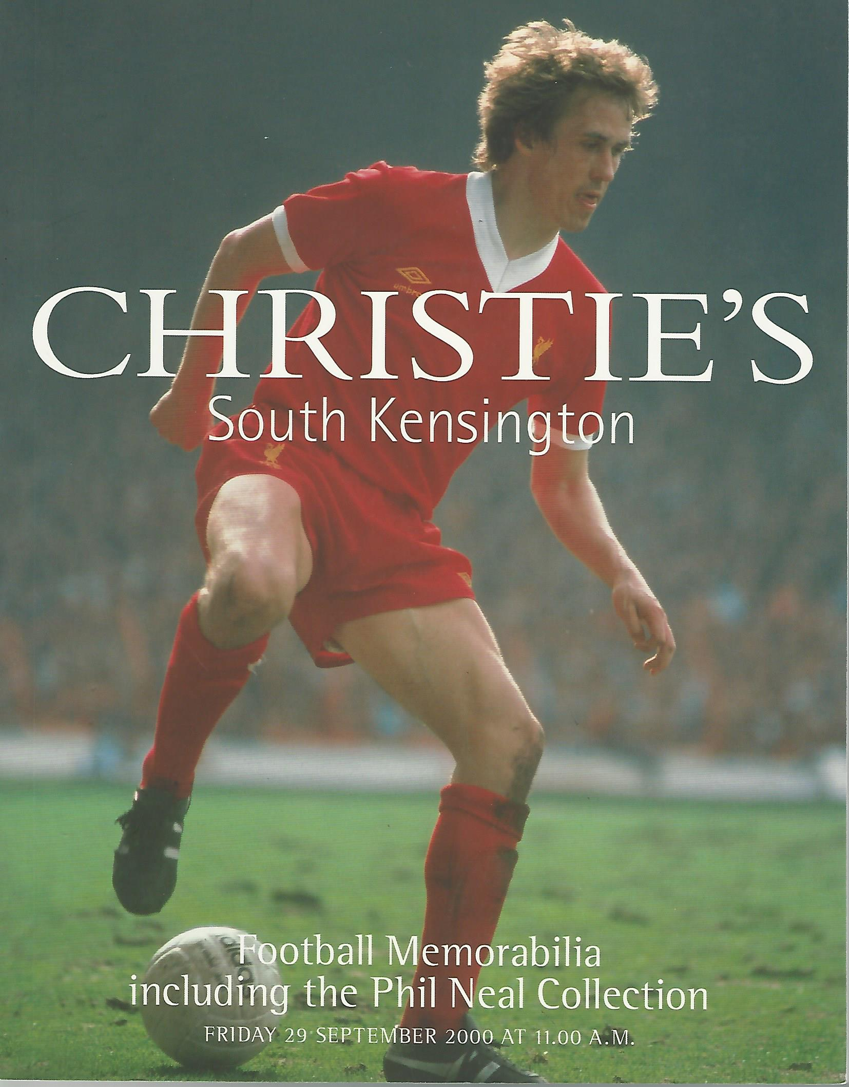 - Christie's South Kensington - Football Memorabilia - 29 september 2000 -Including the Phil Neal Collection
