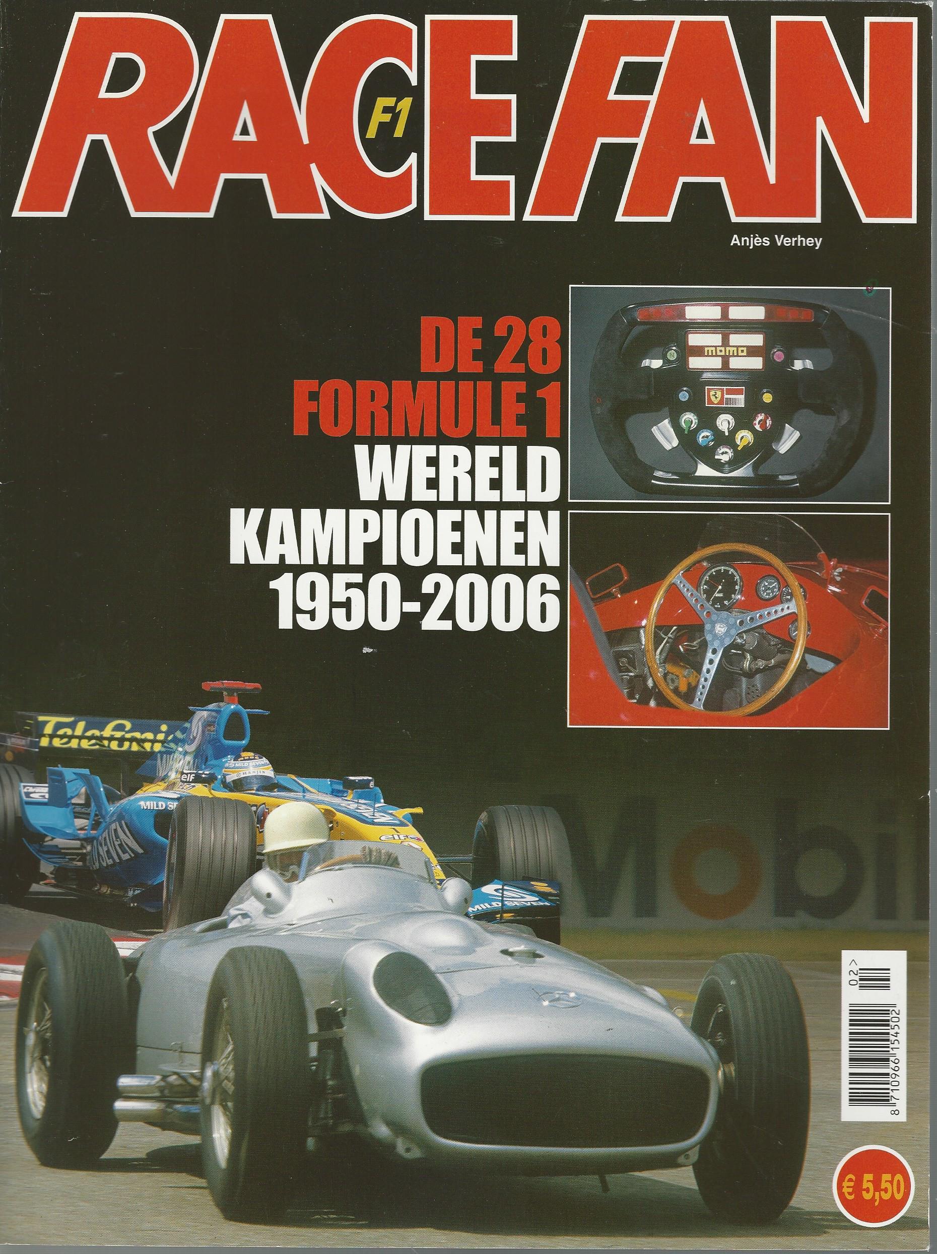 f1 race fan tijdschrift met overzicht van de carri res van 28 formule1 wereldkampioenen. Black Bedroom Furniture Sets. Home Design Ideas
