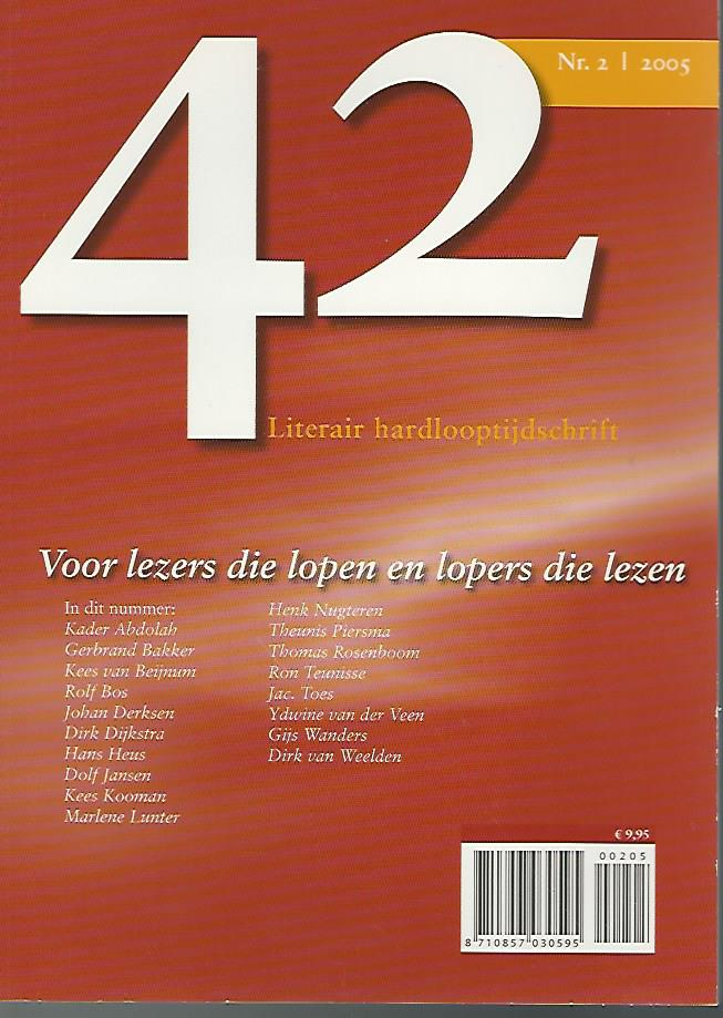Redactie - 42  Literair hardlooptijdschrift Nr. 2