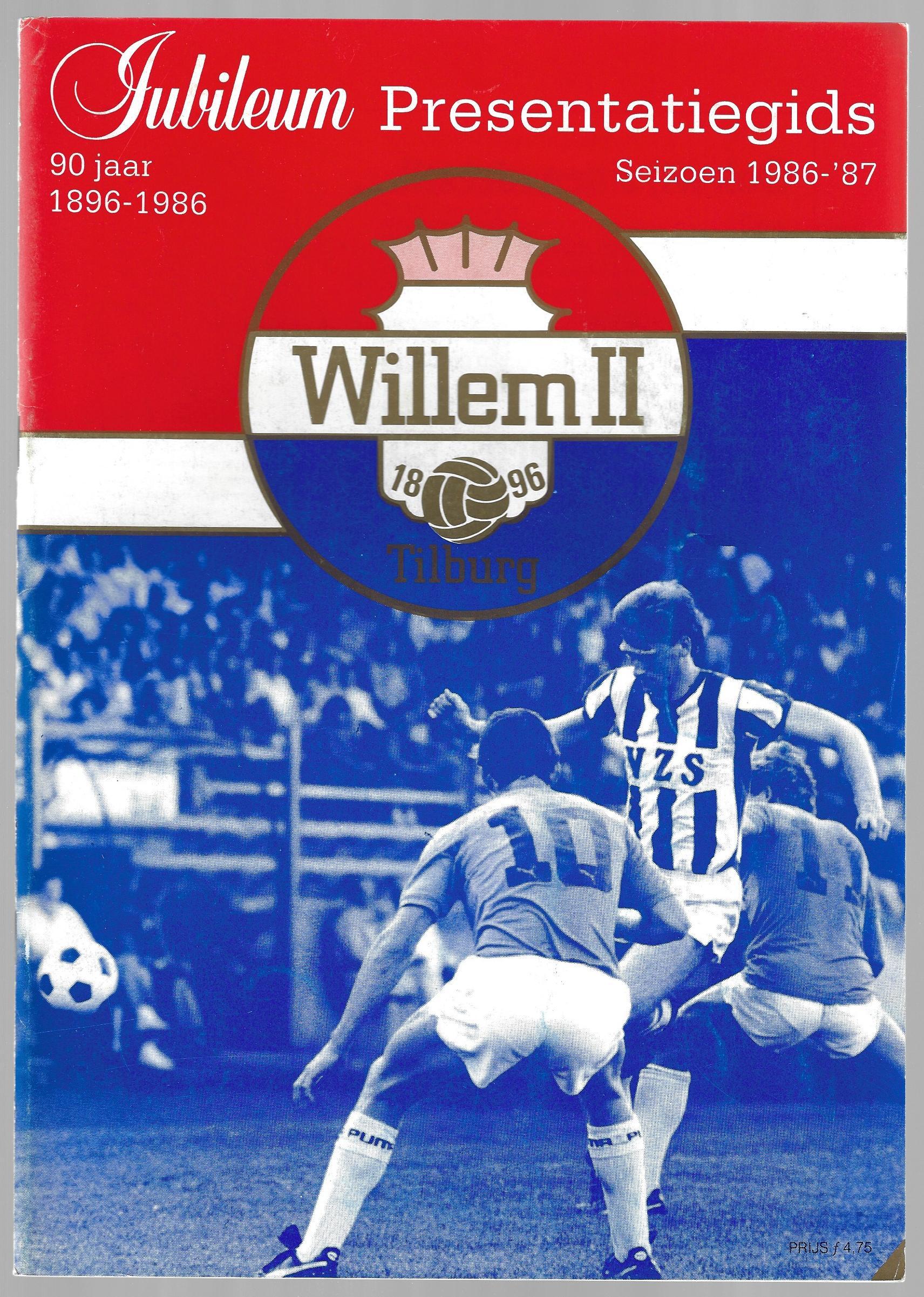 DIVERSE - Jubileum Presentatiegids 90 jaar Willem II 1896-1986 Seizoen 1986-'87